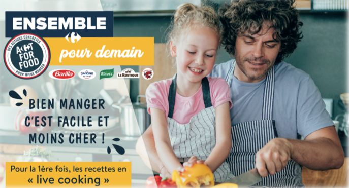 Visuel campagne live cooking Carrefour