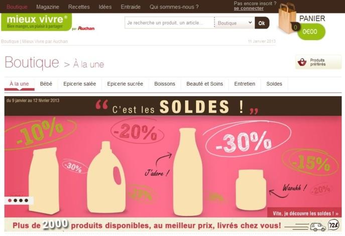Mieux Vivre : le drôle de site marchand d'Auchan