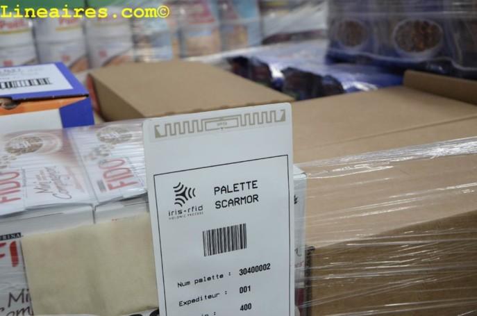 L'étiquette équipée d'une puce RFID