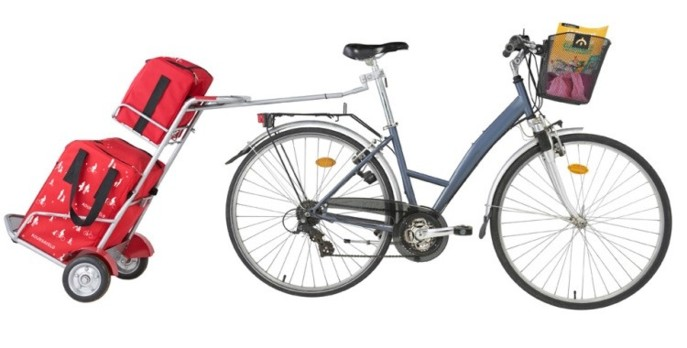 Intermarché prête des chariots pour vélo