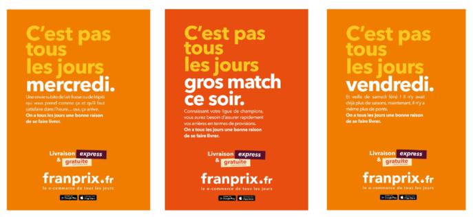Affichages campagne de communication Franprix