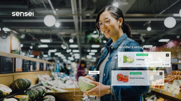 L'association de caméras, de capteurs et de vision par ordinateur permet de mettre à jour en temps réel le panier de chaque client.