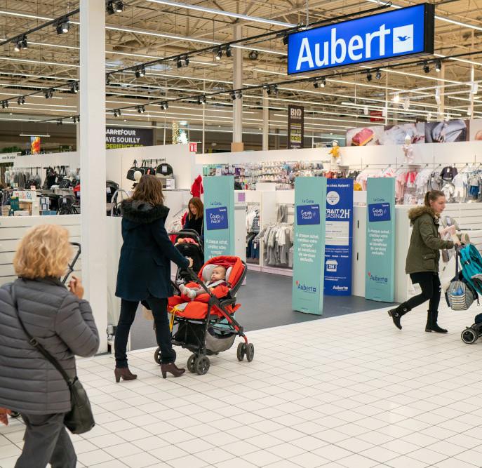 Le premier corner Aubert chez Carrefour aouvert le 20 novembre dans le Carrefour de Claye-Souilly.
