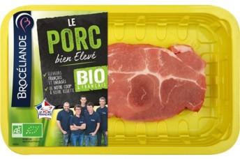 L'une des trois références de découpe de porc bio signée Brocéliande.