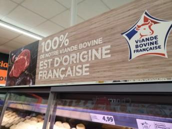 Lidl met en avant son offre 100 % française en viande bovine. C'est aussi quasiment le cas pour l'ensemble de son rayon boucherie. Photo : DR.