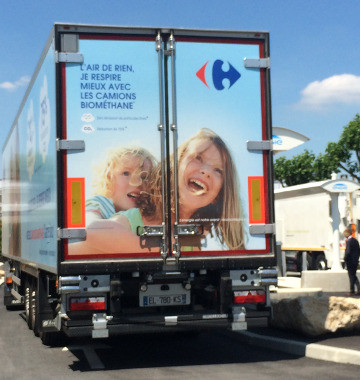 Carrefour va faire rouler 200 camions au gaz naturel