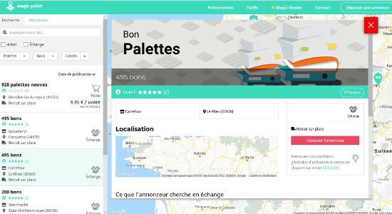 MagicPallet permet l'échange de palettes en un clic