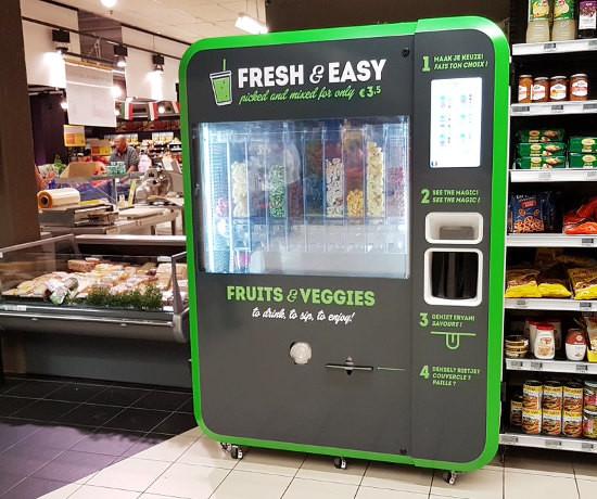 Carrefour teste des machines à smoothies