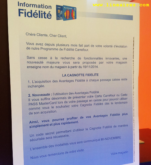 Carrefour Aura Definitivement Abandonne Le Cheque Fidelite Le 20