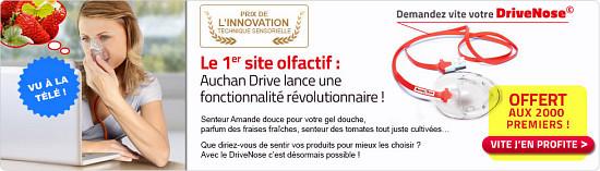 Le site olfactif d'Auchan Drive