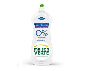 Le liquide vaisselle 0% de Maison Verte