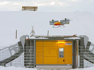 Des casiers de retrait livrés par drone