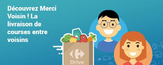 Merci Voisin, le nouveau service de livraison collaborative de Carrefour