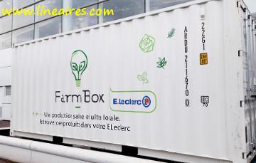 Un conteneur Farmbox chez Leclerc