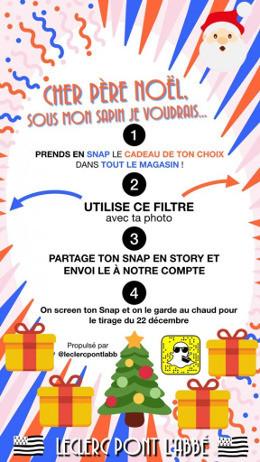 Leclerc s'approprie Snapchat