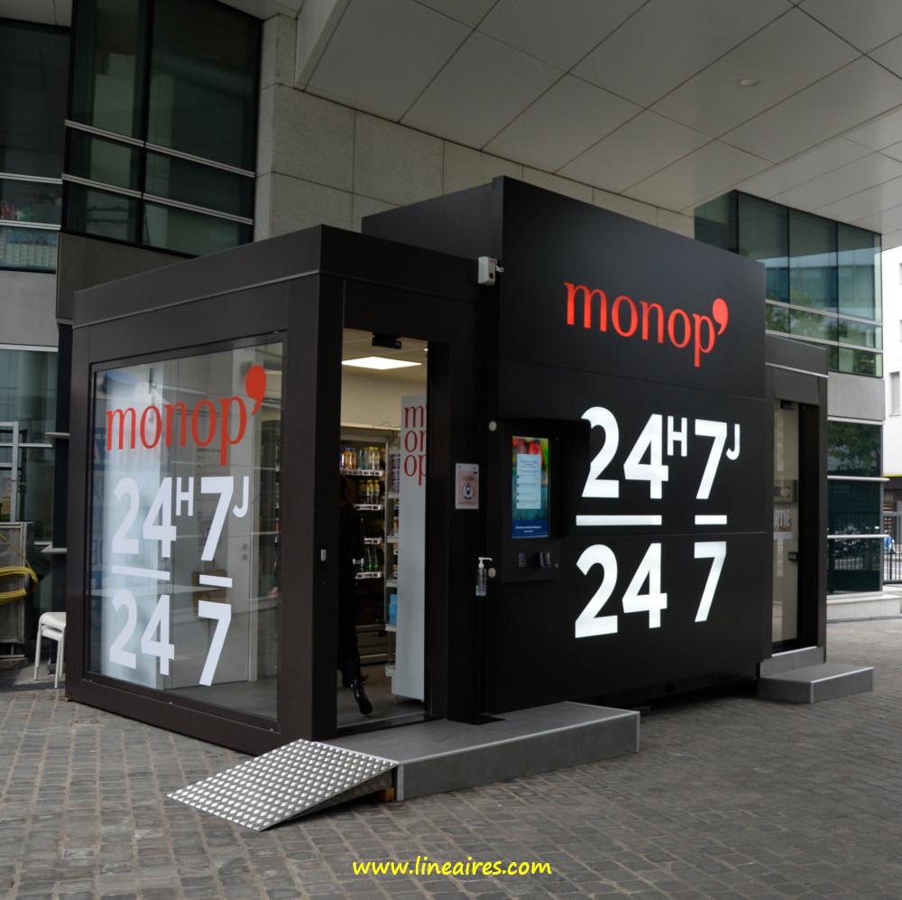 Les nouveaux formats automatisés de Monoprix