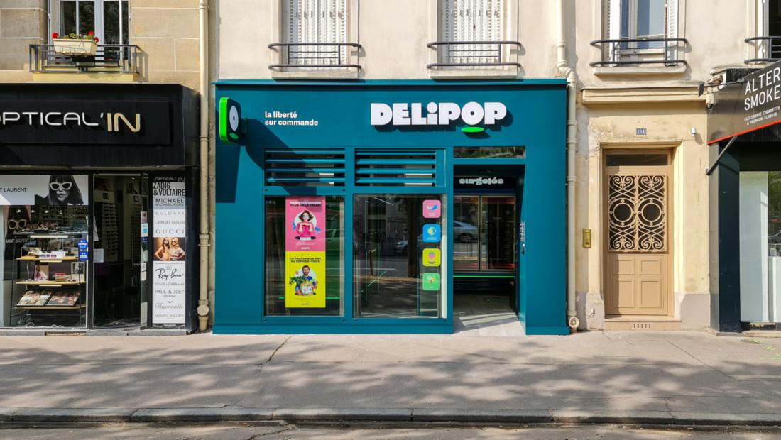 Le premier point de retrait Delipop, avenue de Versailles à Paris.