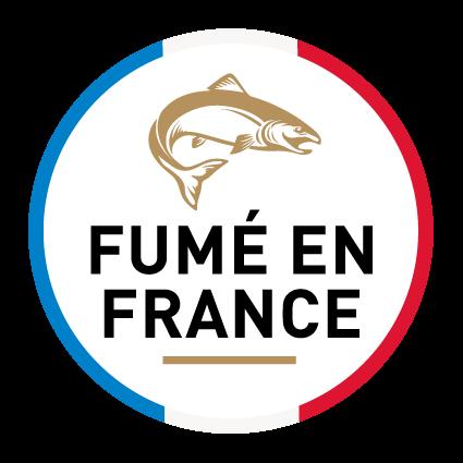 """Logo saumon """"fumé en France"""""""