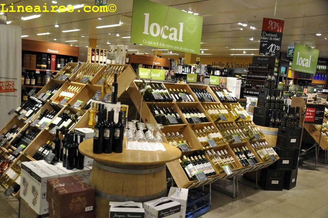 Le vin local en avant