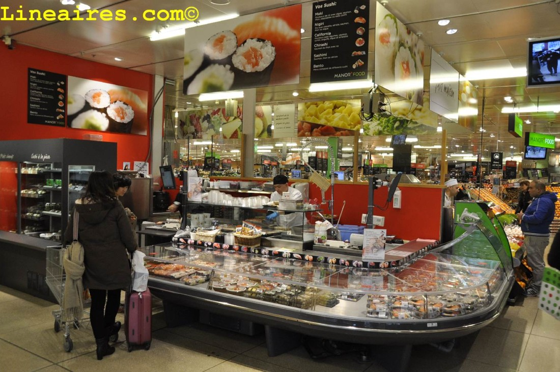 Un gros stand sushis