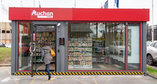 Le premier Auchan Minute français a ouvert ses portes à Villeneuve-d'Ascq, au siège du groupe.