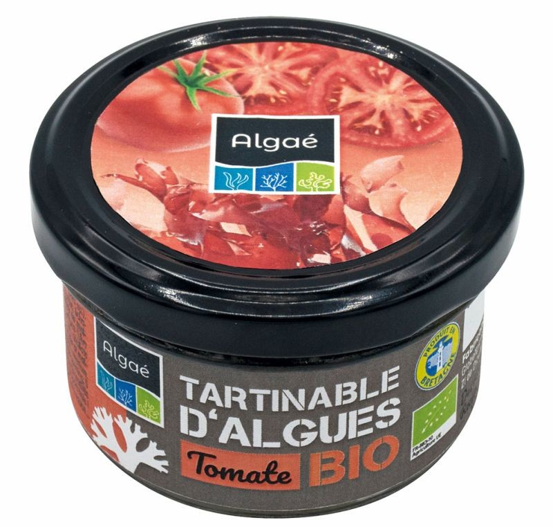 tartinables d'algues tomate bio