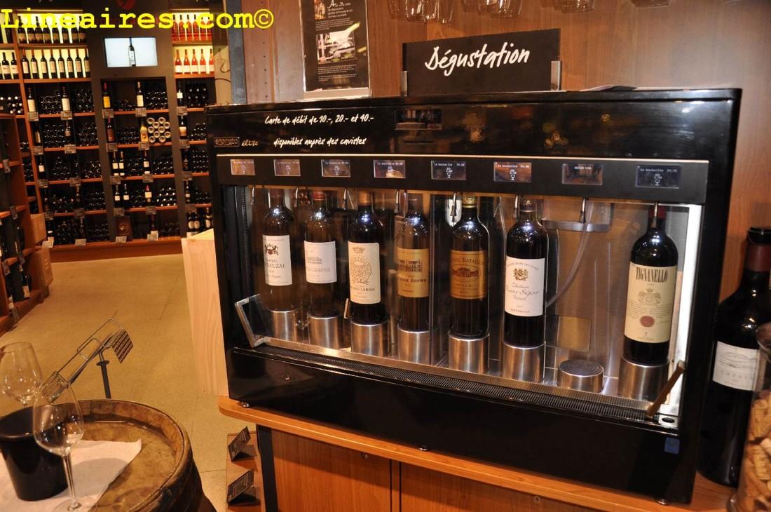 Une machine à dégustation de vin